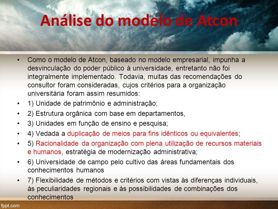 Análise do modelo de Atcon