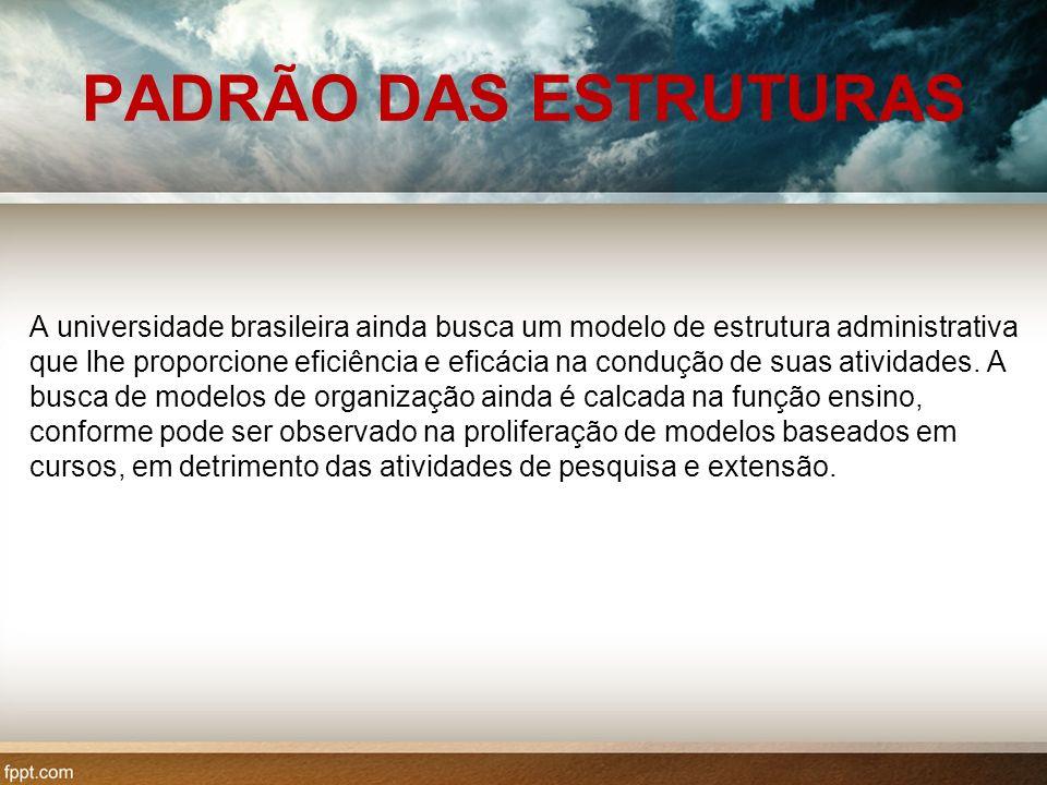 PADRÃO DAS ESTRUTURAS