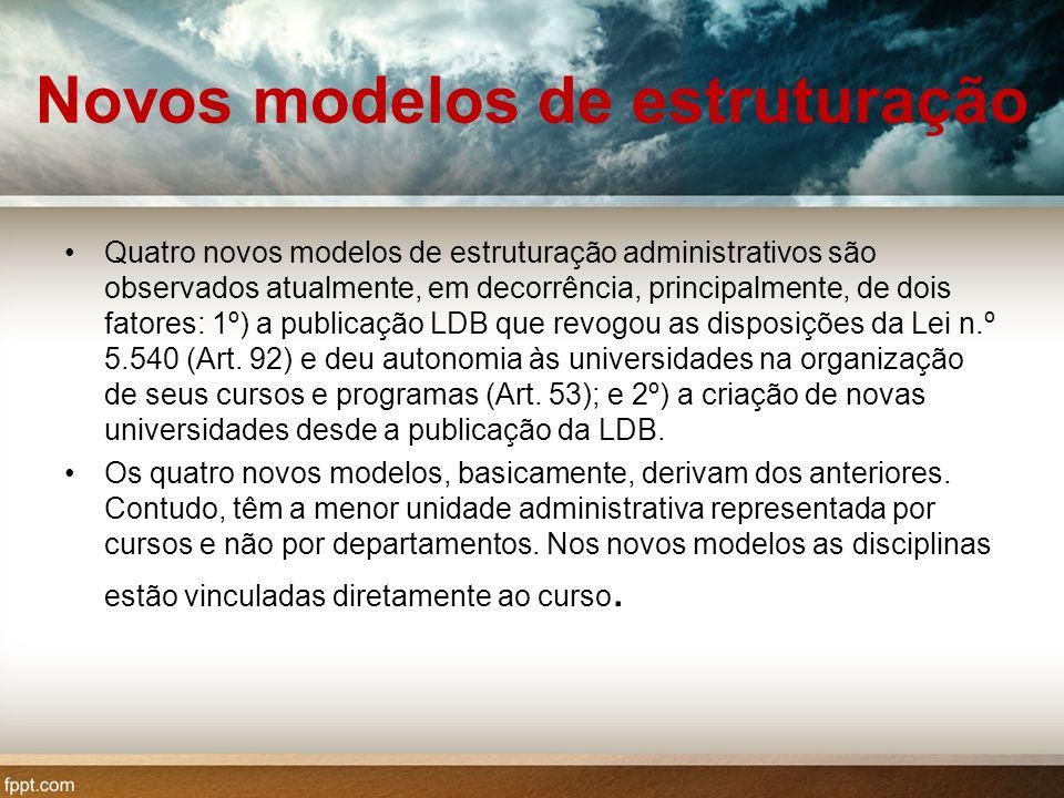 Novos modelos de estruturação