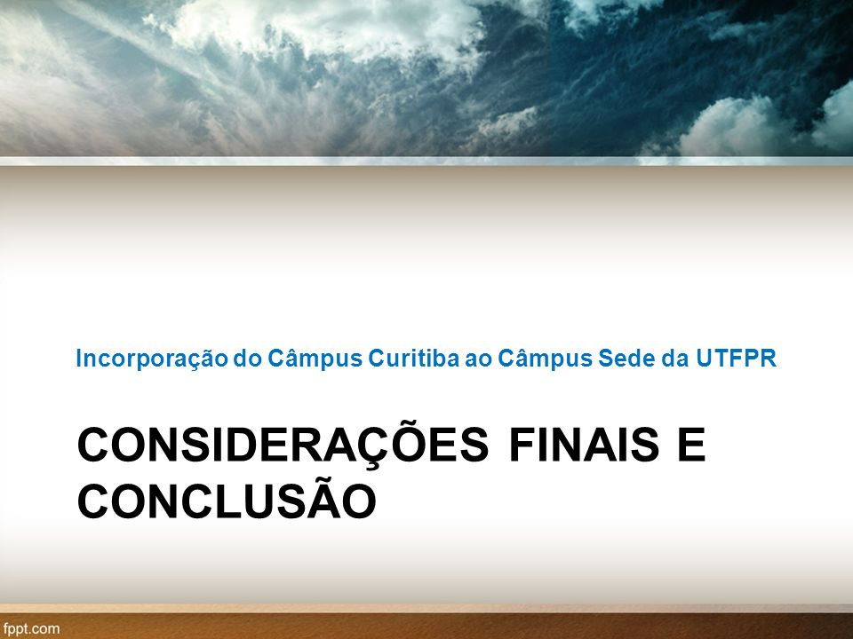 CONSIDERAÇÕES FINAIS E CONCLUSÃO