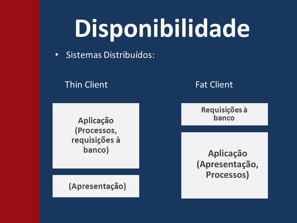Disponibilidade Sistemas Distribuídos: Thin Client Fat Client