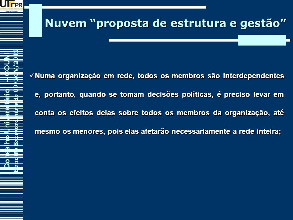 Nuvem proposta de estrutura e gestão