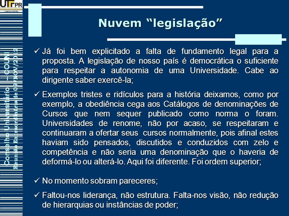 Nuvem legislação