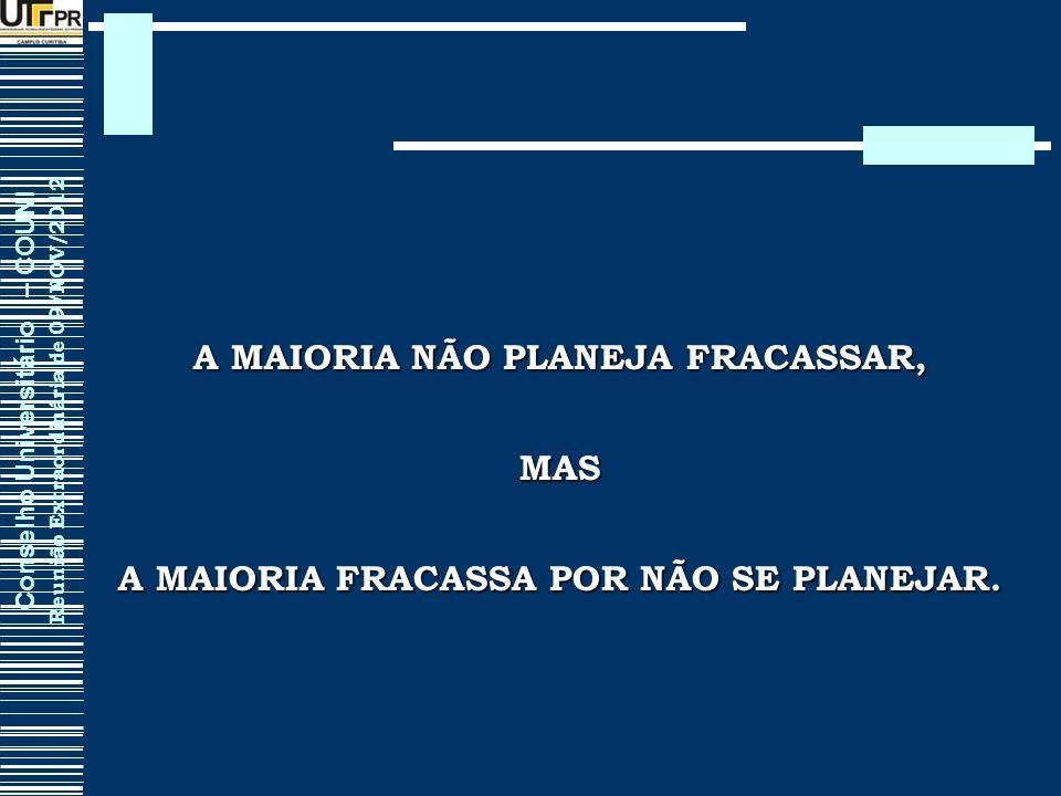 A MAIORIA NÃO PLANEJA FRACASSAR,