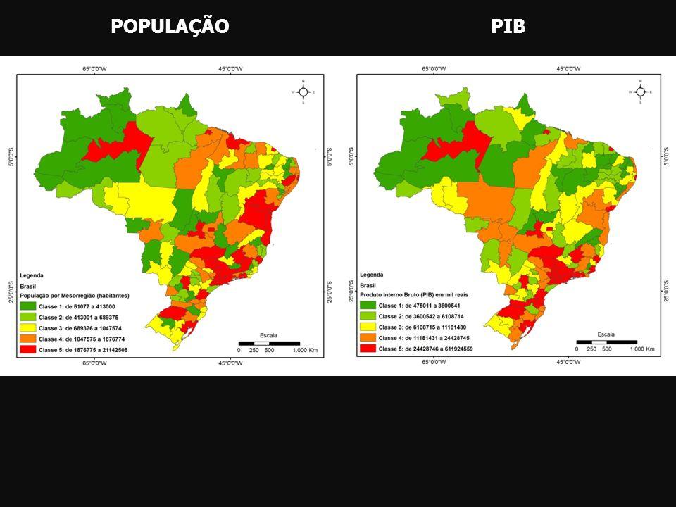 POPULAÇÃO PIB
