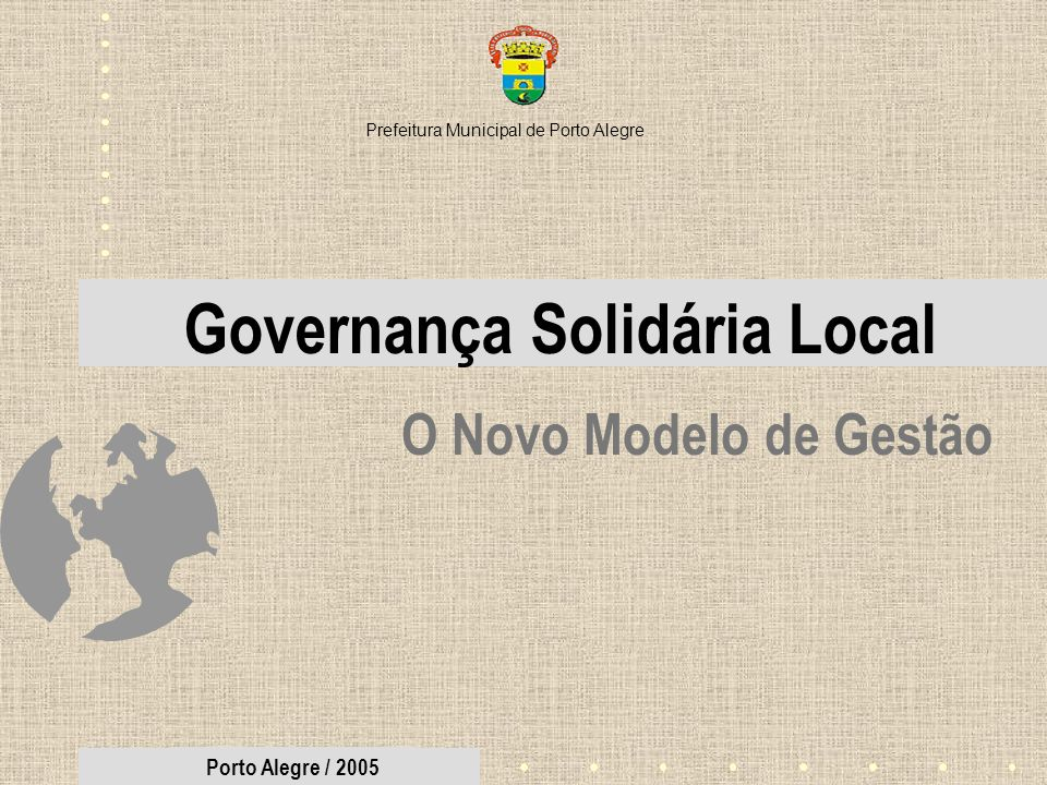 Governança Solidária Local
