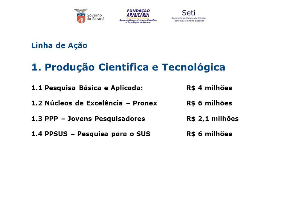 1. Produção Científica e Tecnológica