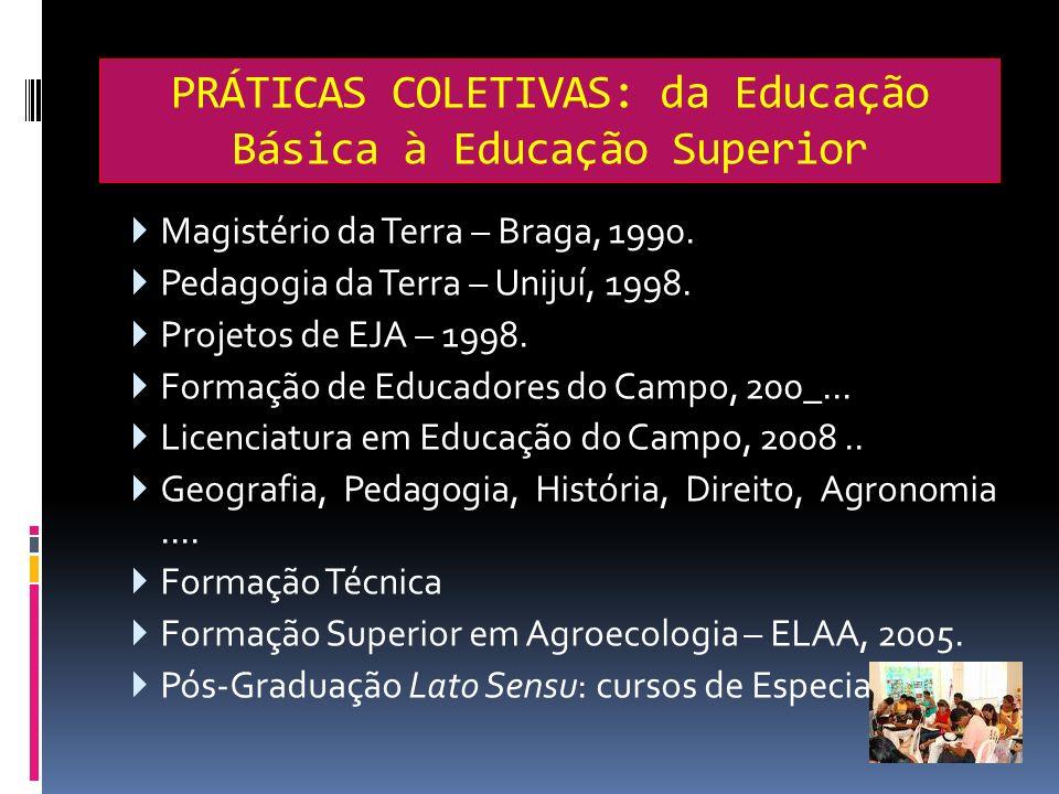 PRÁTICAS COLETIVAS: da Educação Básica à Educação Superior
