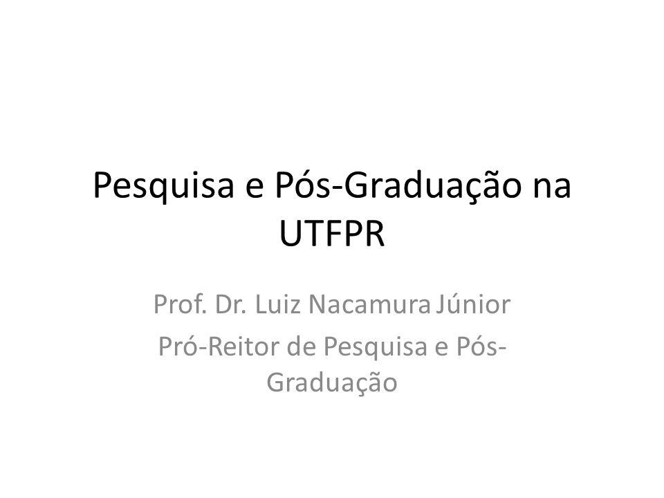 Pesquisa e Pós-Graduação na UTFPR