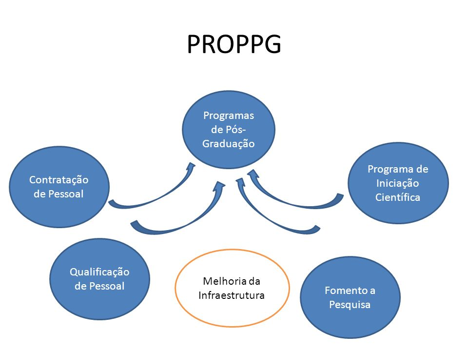 PROPPG Programas de Pós-Graduação Programa de Iniciação Científica