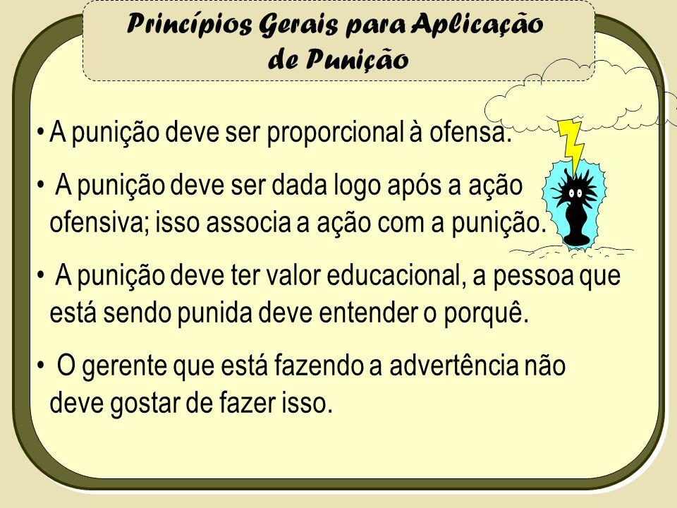 Princípios Gerais para Aplicação