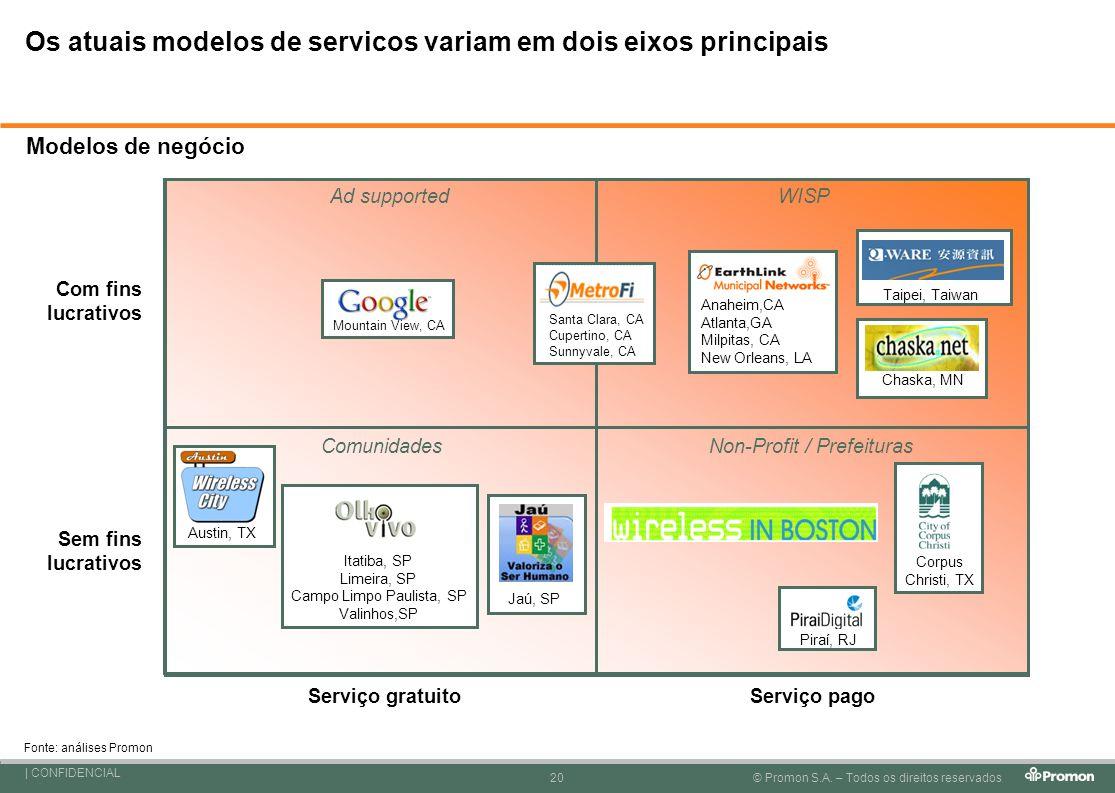 Os atuais modelos de servicos variam em dois eixos principais
