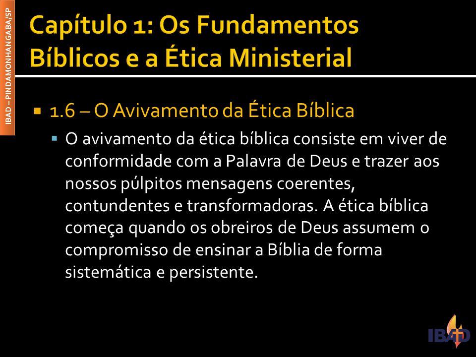 Capítulo 1: Os Fundamentos Bíblicos e a Ética Ministerial