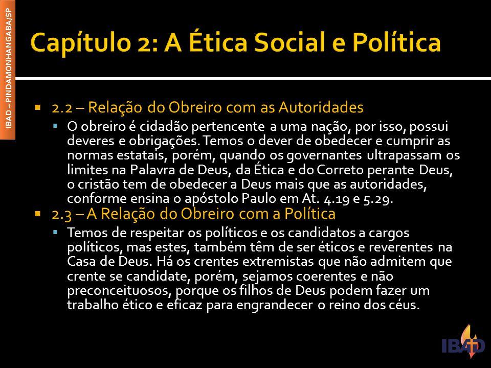 Capítulo 2: A Ética Social e Política