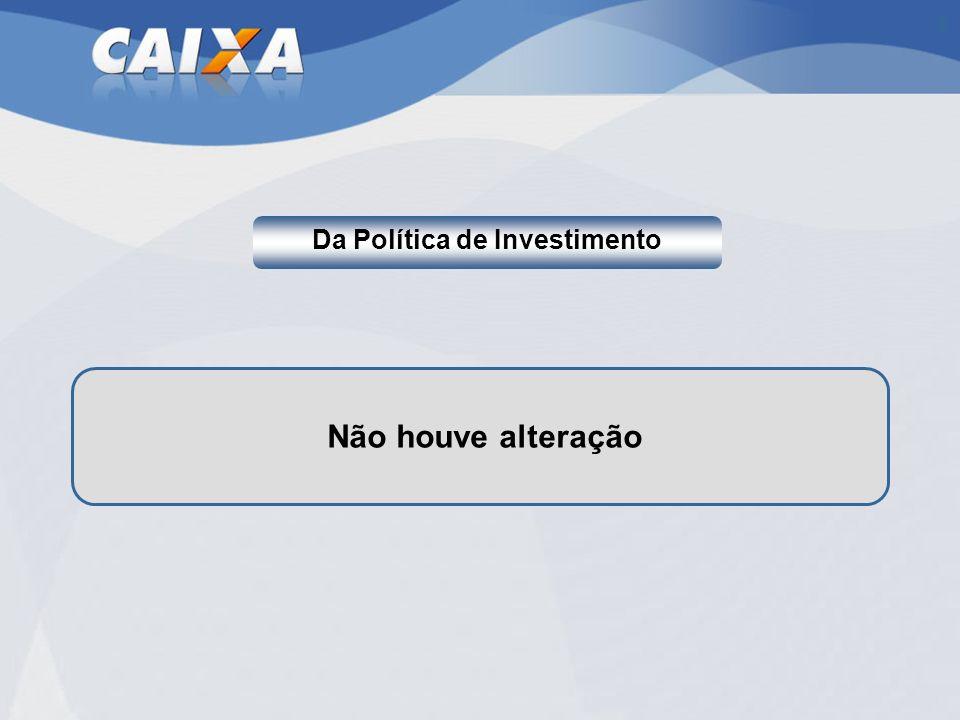 Da Política de Investimento