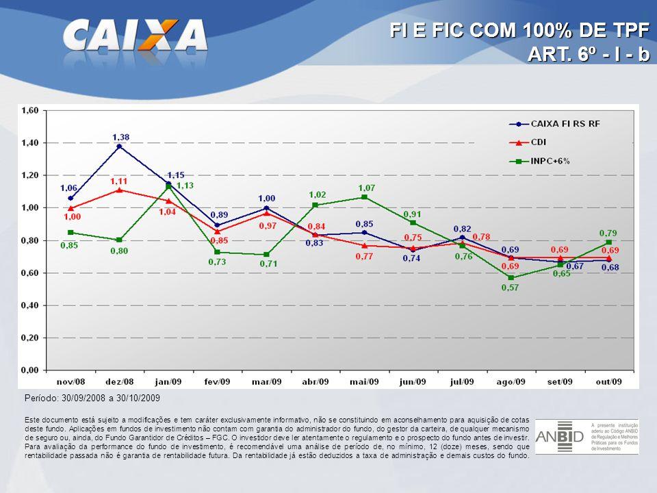 FI E FIC COM 100% DE TPF ART. 6º - I - b