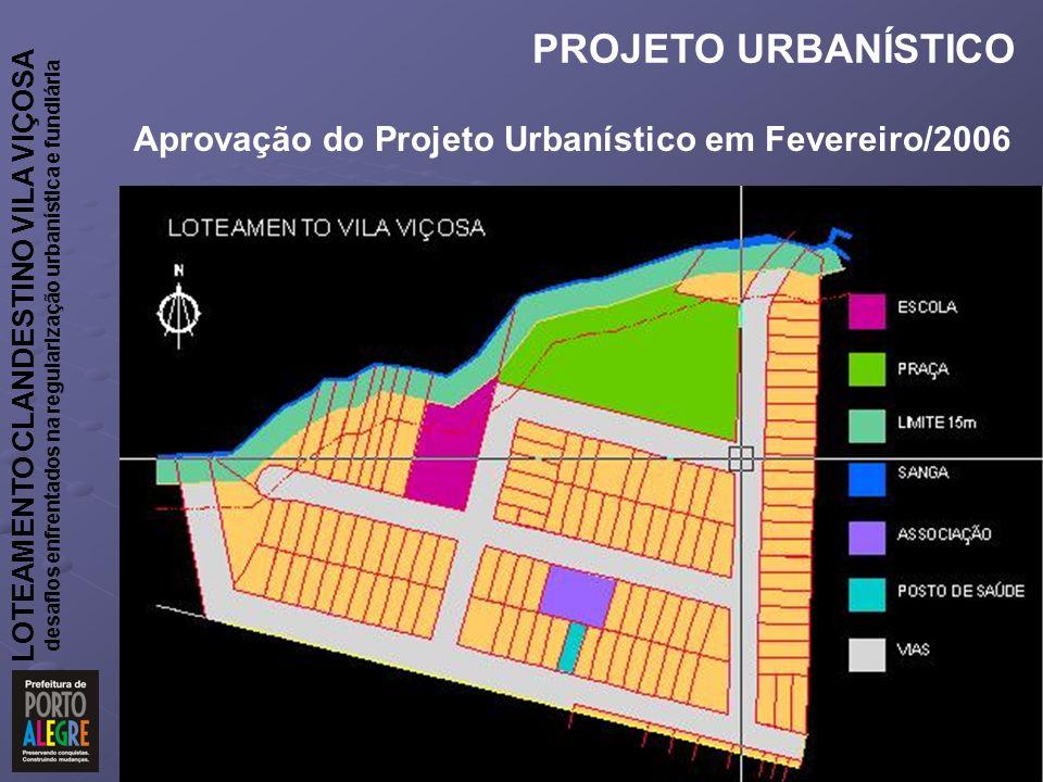 Aprovação do Projeto Urbanístico em Fevereiro/2006