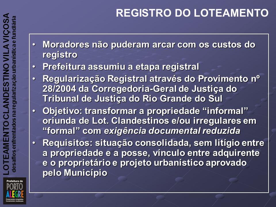 REGISTRO DO LOTEAMENTO