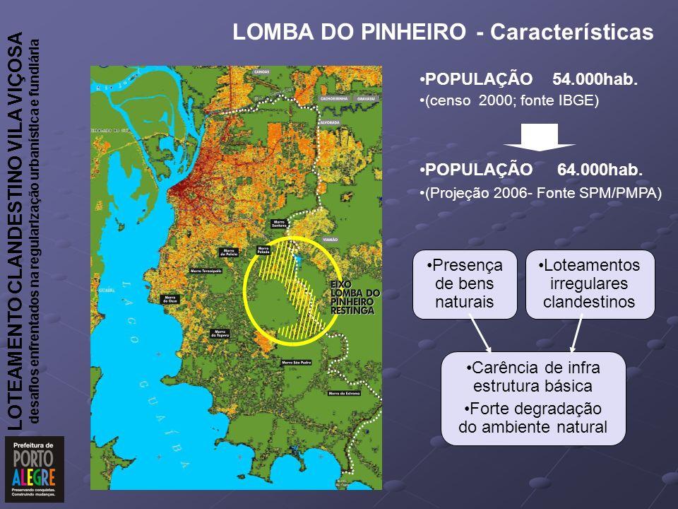 LOMBA DO PINHEIRO - Características