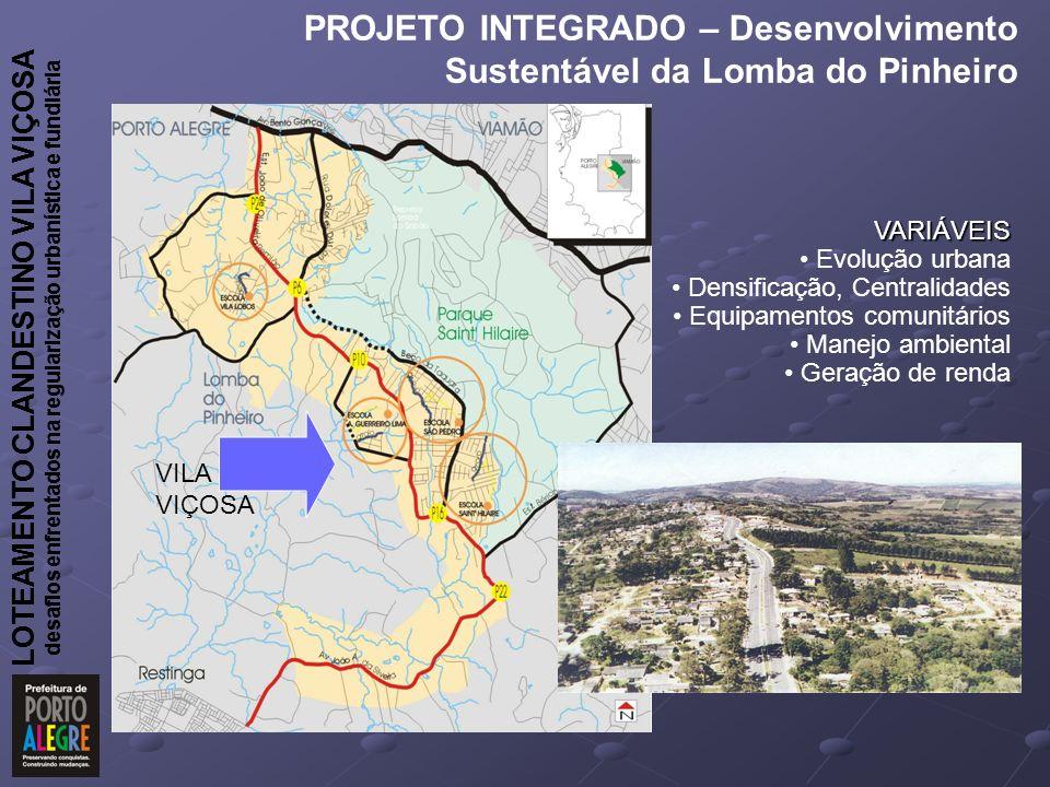 PROJETO INTEGRADO – Desenvolvimento Sustentável da Lomba do Pinheiro