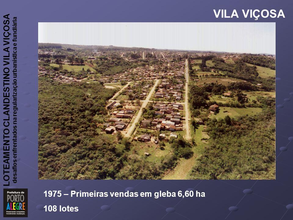 VILA VIÇOSA 1975 – Primeiras vendas em gleba 6,60 ha 108 lotes