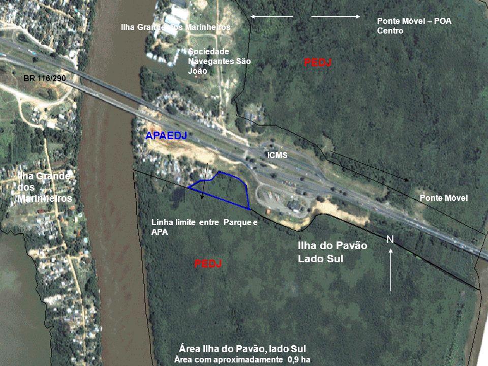 Área com aproximadamente 0,9 ha.