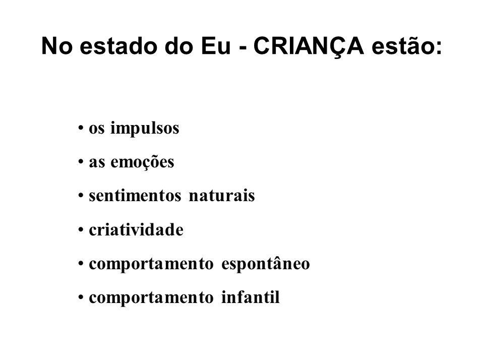 No estado do Eu - CRIANÇA estão: