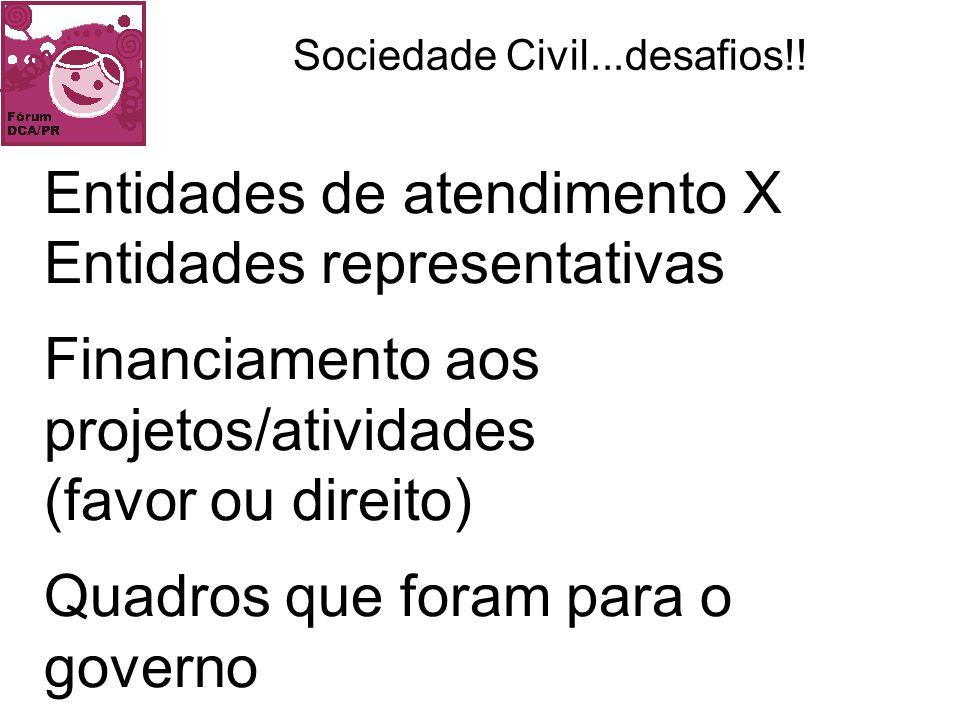Sociedade Civil...desafios!!