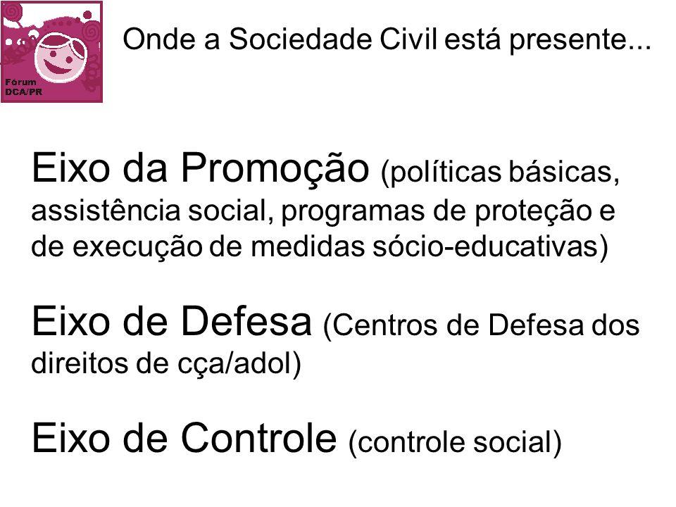 Onde a Sociedade Civil está presente...