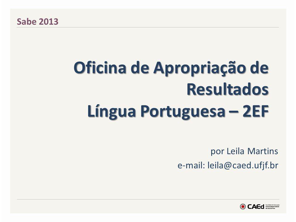Oficina de Apropriação de Resultados Língua Portuguesa – 2EF