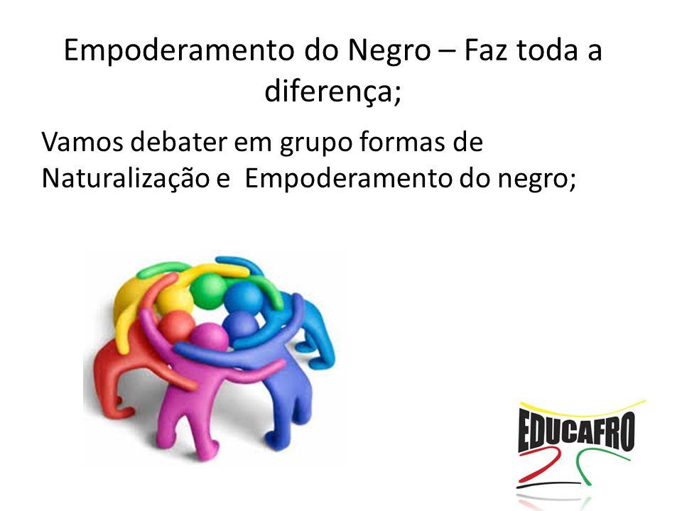 Empoderamento do Negro – Faz toda a diferença;