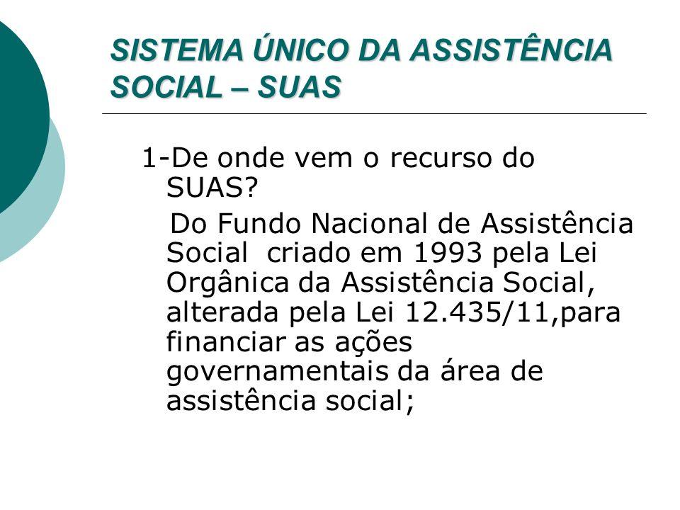 SISTEMA ÚNICO DA ASSISTÊNCIA SOCIAL – SUAS