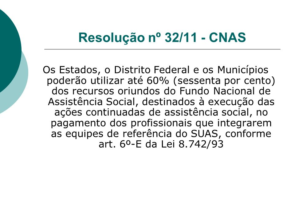 Resolução nº 32/11 - CNAS