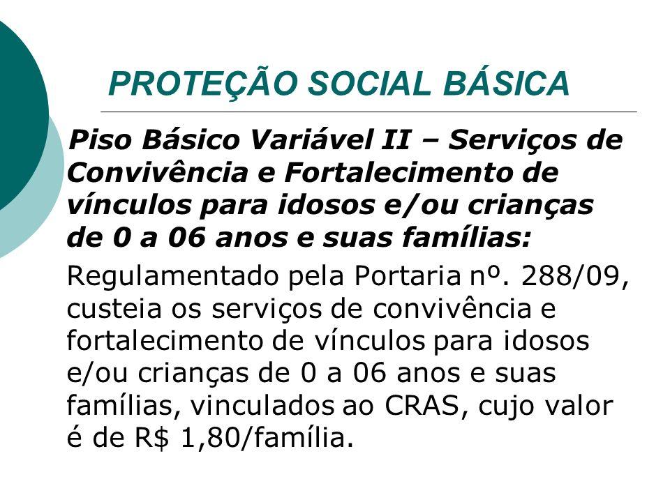 PROTEÇÃO SOCIAL BÁSICA