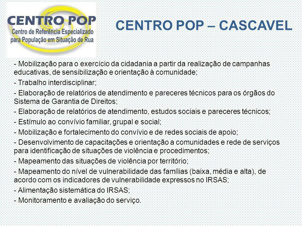 CENTRO POP – CASCAVEL