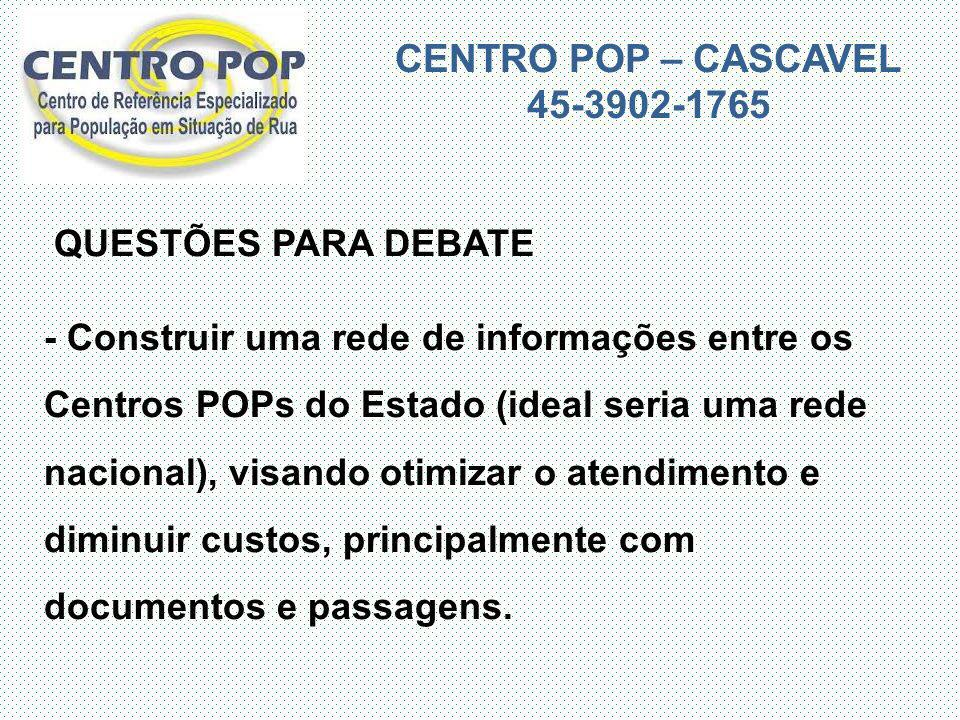 CENTRO POP – CASCAVEL 45-3902-1765