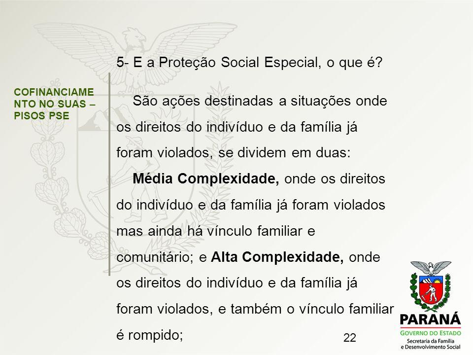 5- E a Proteção Social Especial, o que é