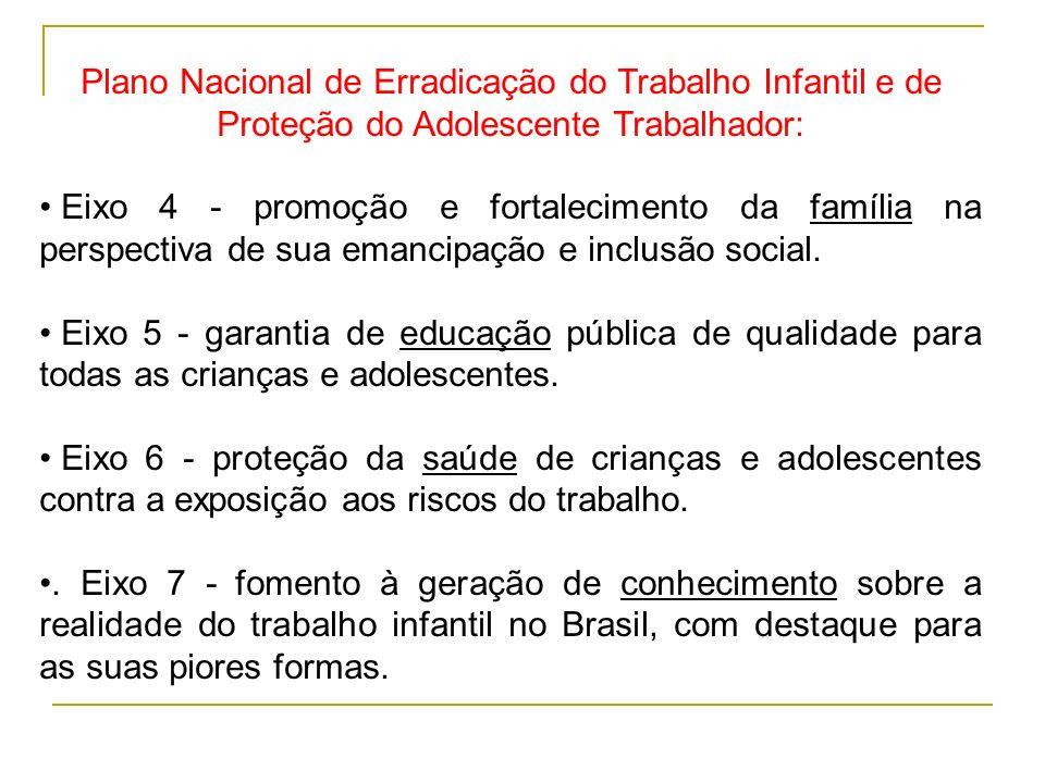 Plano Nacional de Erradicação do Trabalho Infantil e de Proteção do Adolescente Trabalhador: