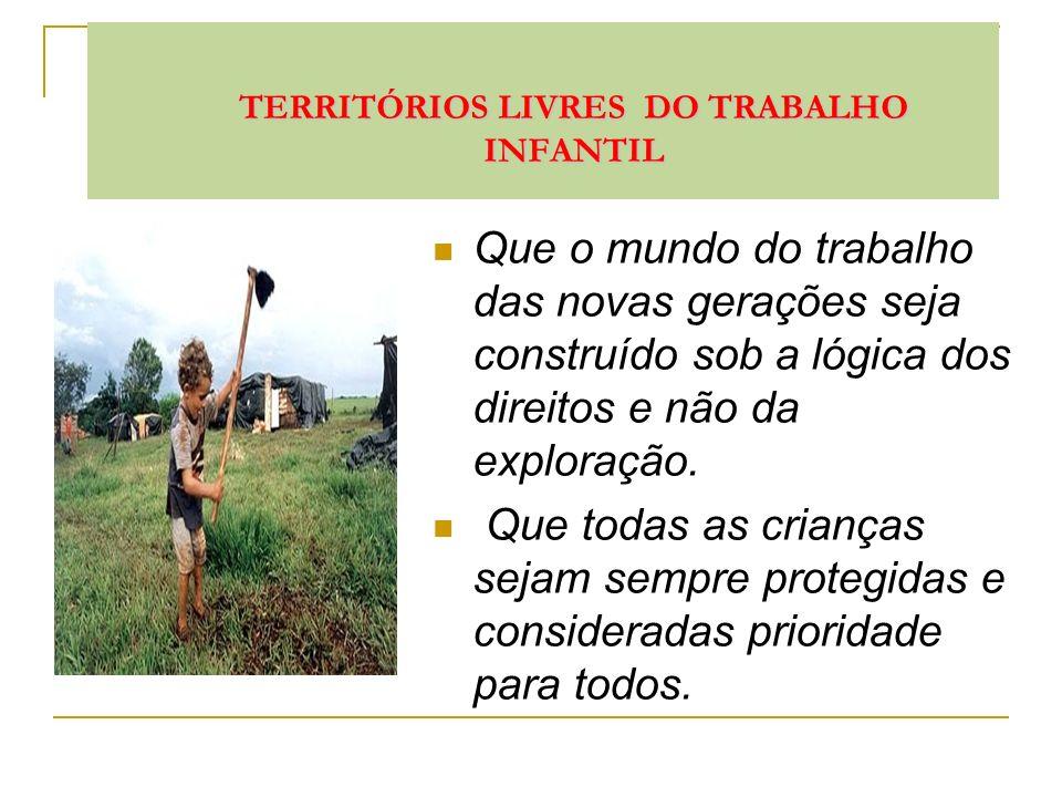 TERRITÓRIOS LIVRES DO TRABALHO INFANTIL