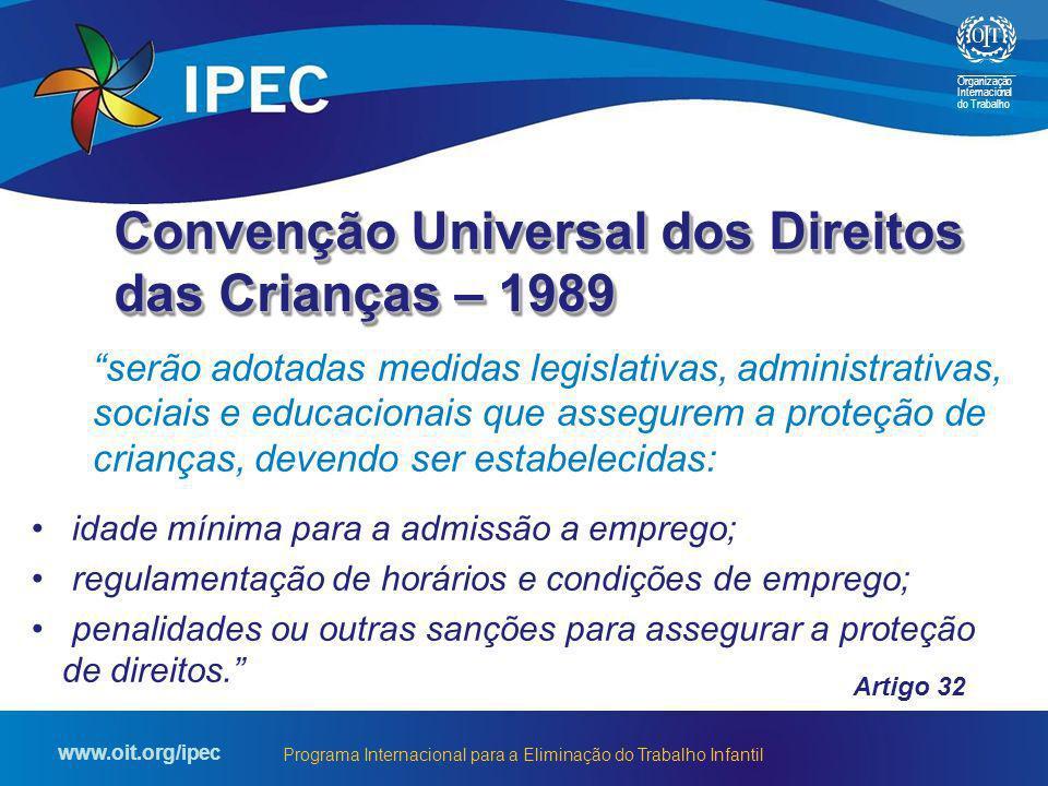 Convenção Universal dos Direitos das Crianças – 1989