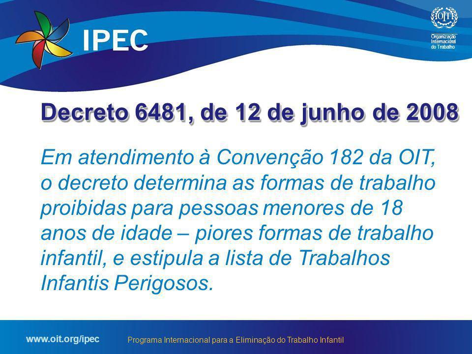 Decreto 6481, de 12 de junho de 2008