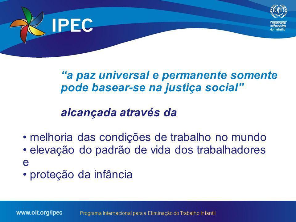 a paz universal e permanente somente pode basear-se na justiça social