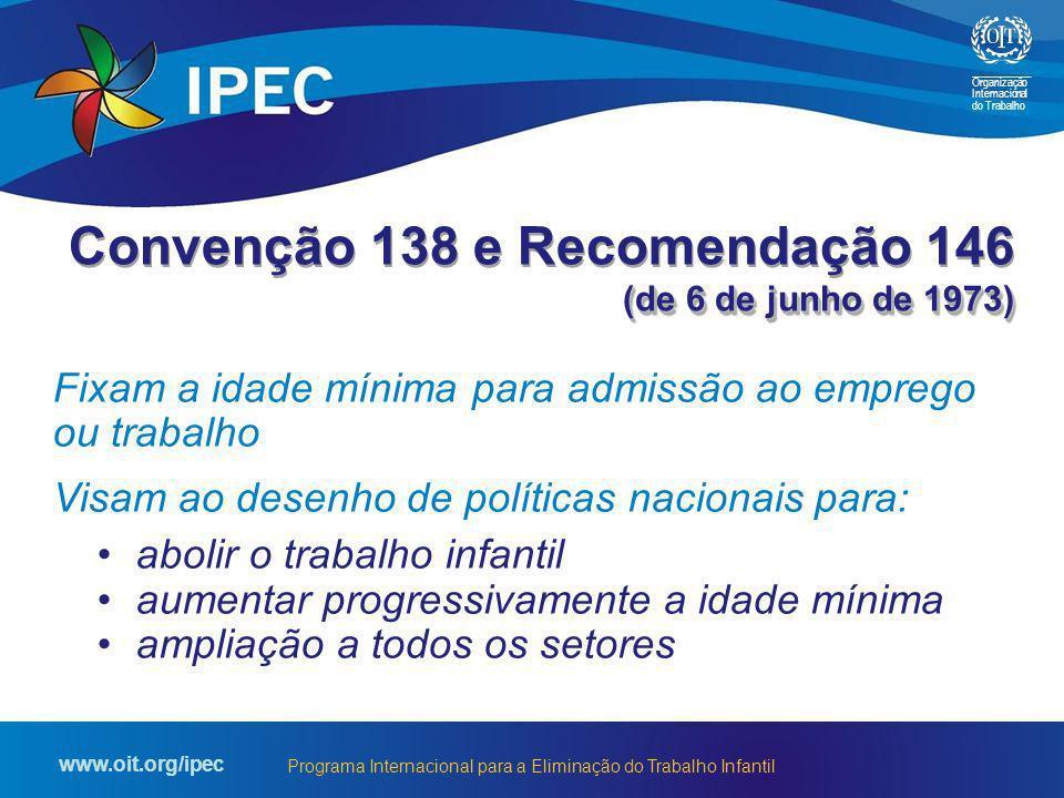 Convenção 138 e Recomendação 146 (de 6 de junho de 1973)