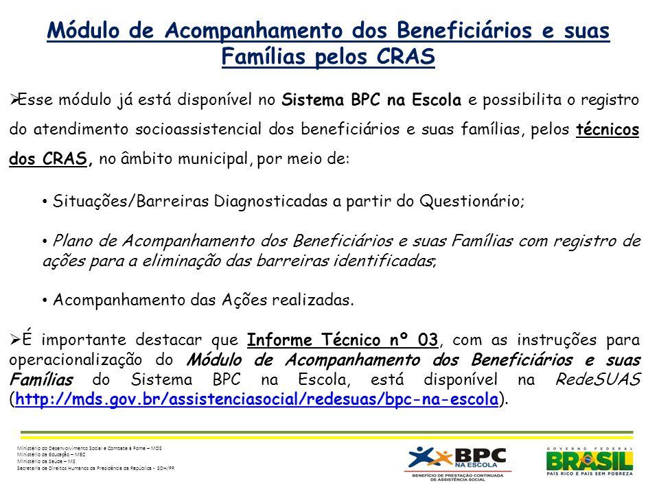 Módulo de Acompanhamento dos Beneficiários e suas Famílias pelos CRAS
