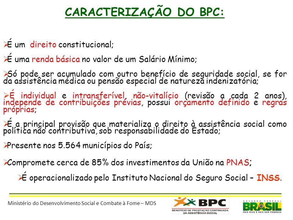 CARACTERIZAÇÃO DO BPC: