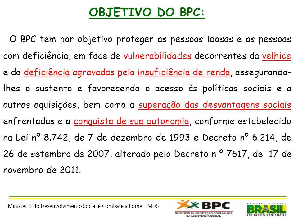 OBJETIVO DO BPC:
