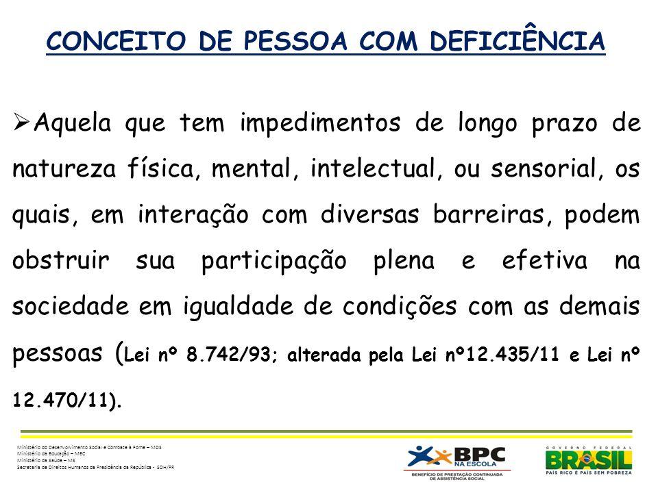 CONCEITO DE PESSOA COM DEFICIÊNCIA