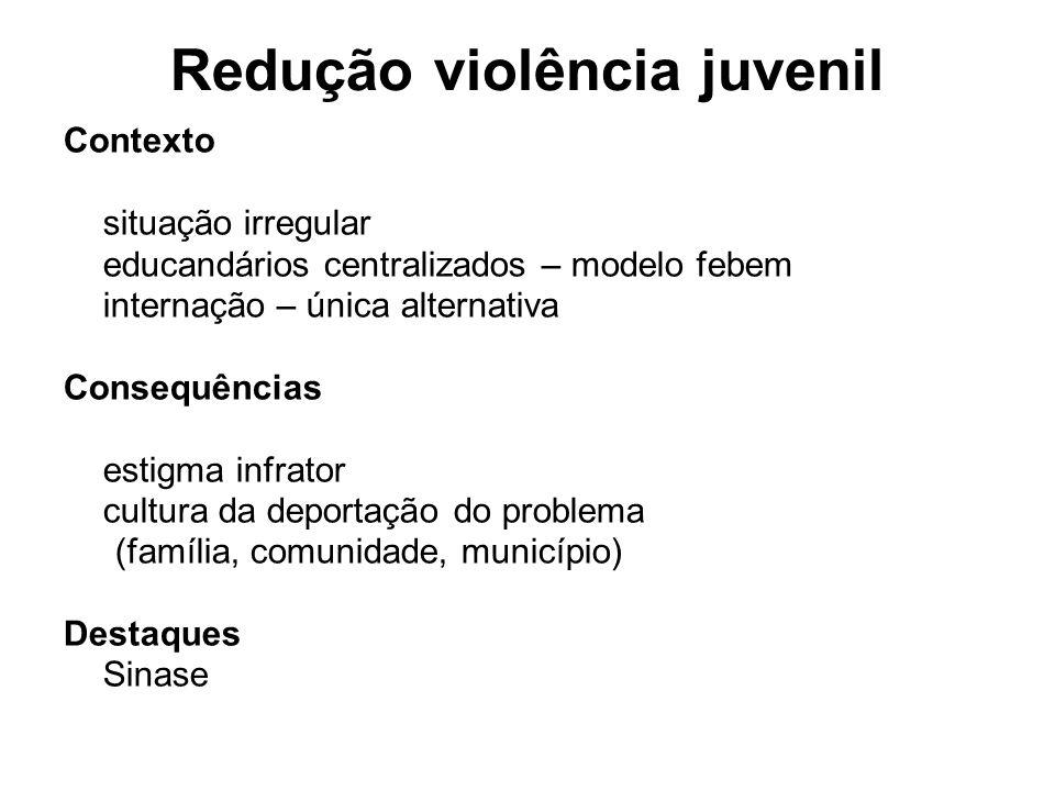 Redução violência juvenil