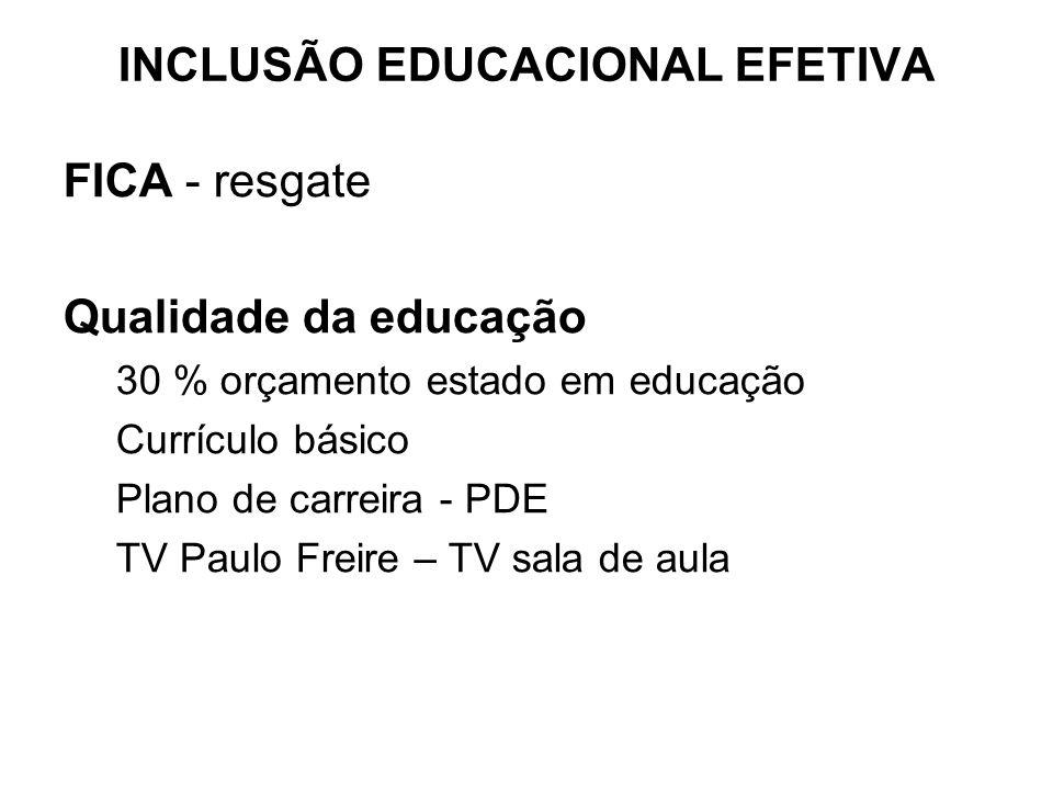 INCLUSÃO EDUCACIONAL EFETIVA