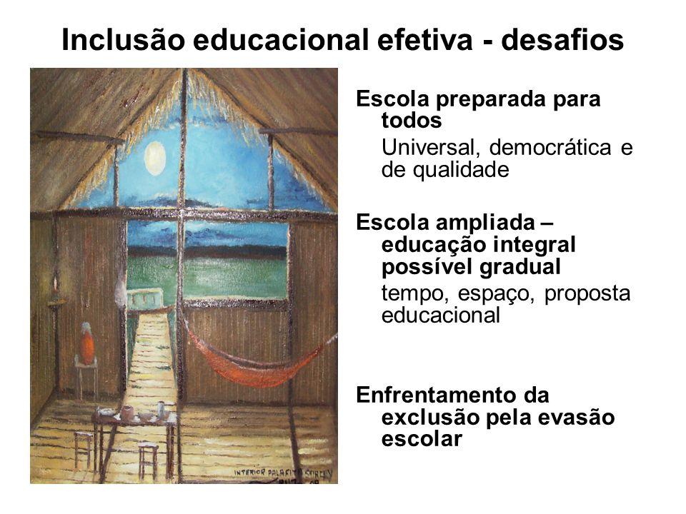 Inclusão educacional efetiva - desafios